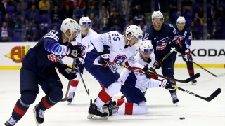 Dylan_Larkin_United States v France: Group A - 2019 IIHF Ice Hockey World Championship Slovakia