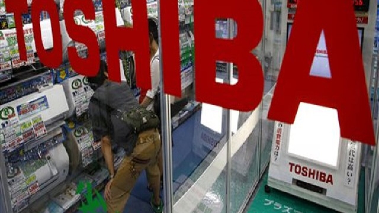 Japanese electronics maker Toshiba in US account