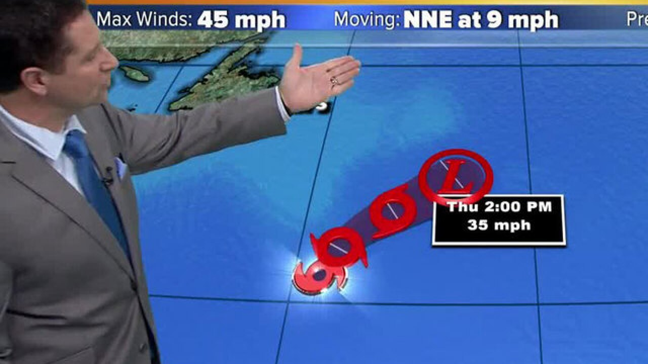 Tropical Storm Debby now has 45 mph winds