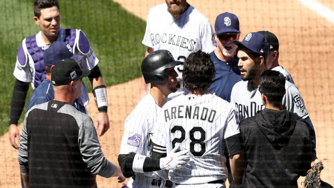 Tempers flare in Padres' 6-4 loss to Rockies