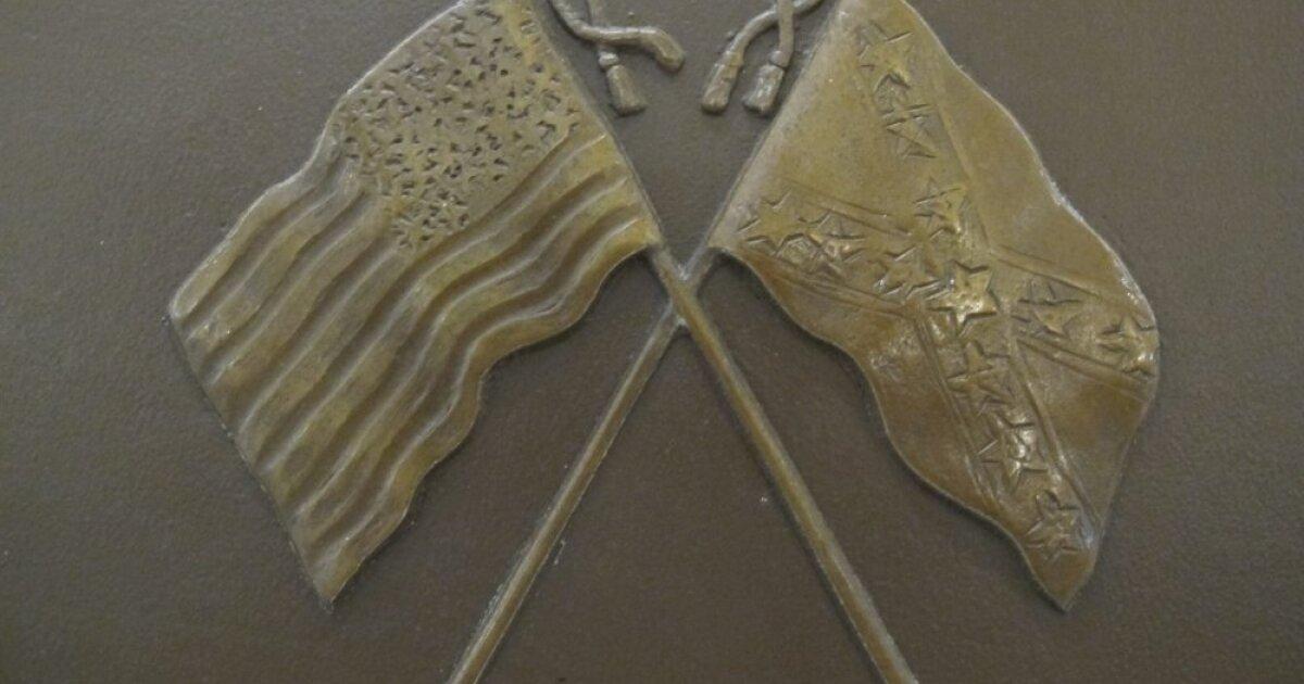 confederate flag plaque.