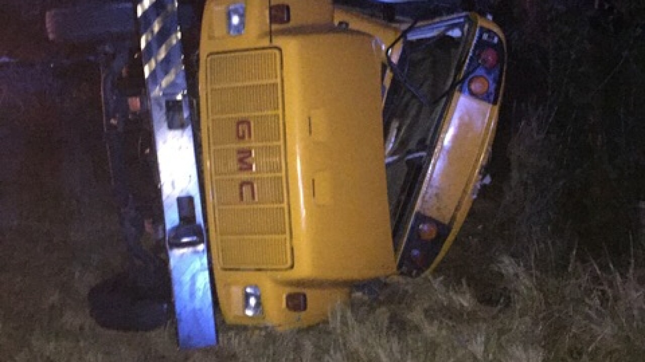 Injuries reported in school bus crash