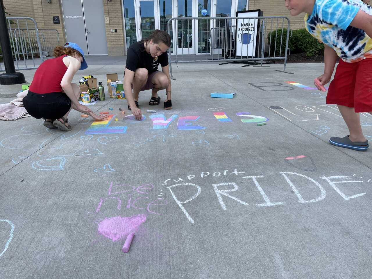 Chalk the plaza event