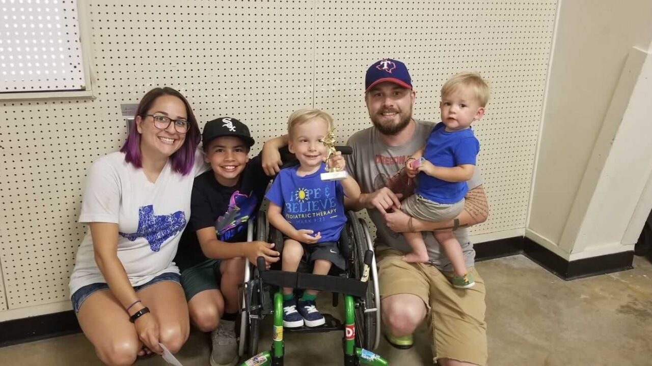 4-year-old boy with spina bifida defies the odds