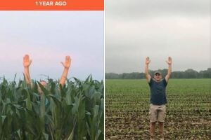 Then-and-now photos show the crisis some Indiana farmers are facing this spring