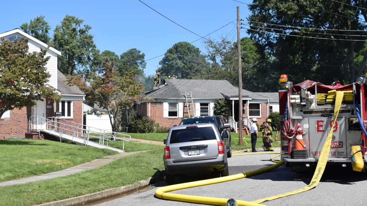 Firefighters respond to Norfolk house fire