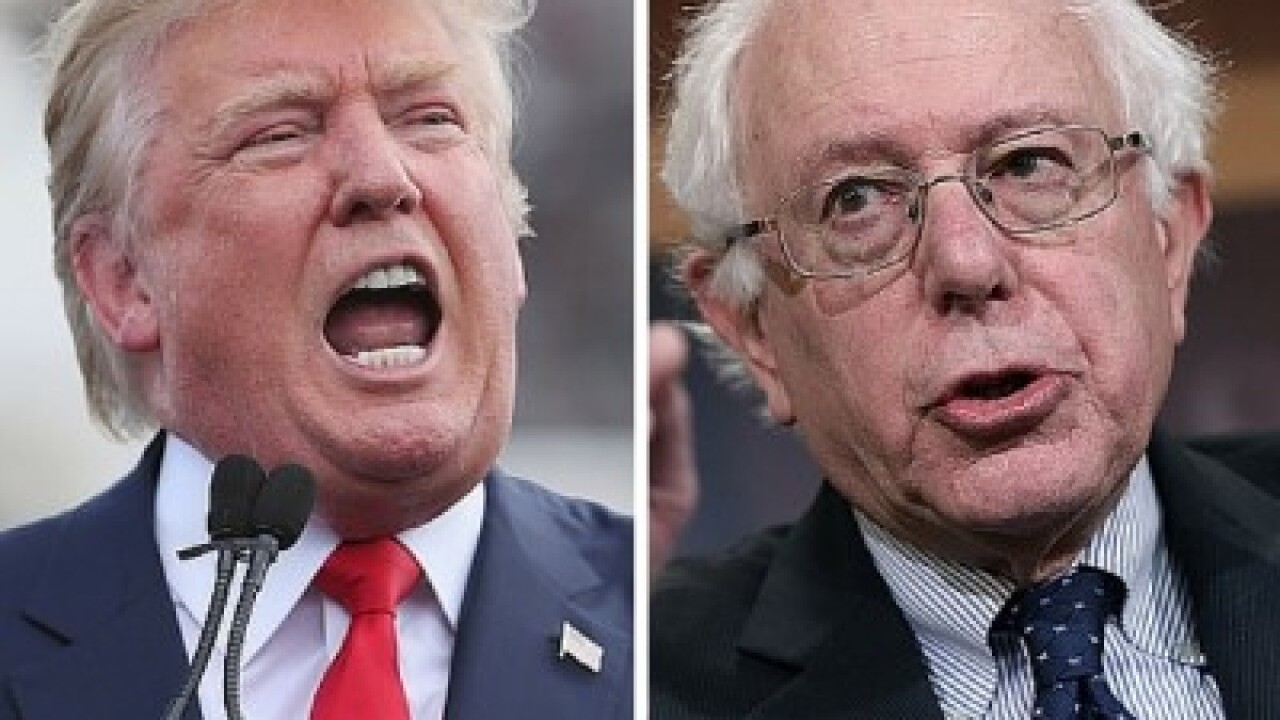 President Donald Trump and Democratic candidate Bernie Sanders