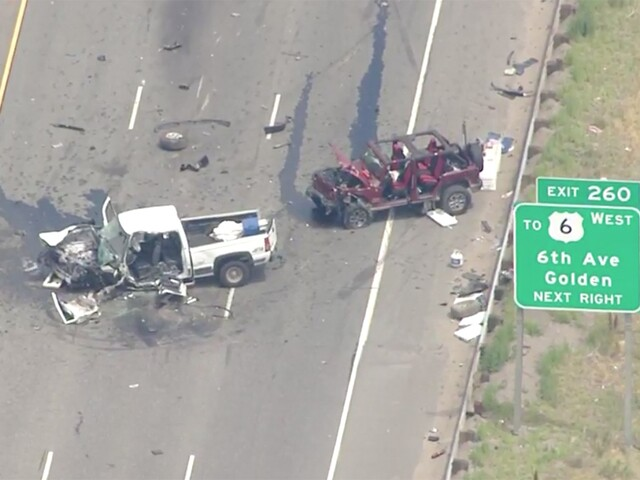 See photos of the crash on EB I-70 at Morrison Road
