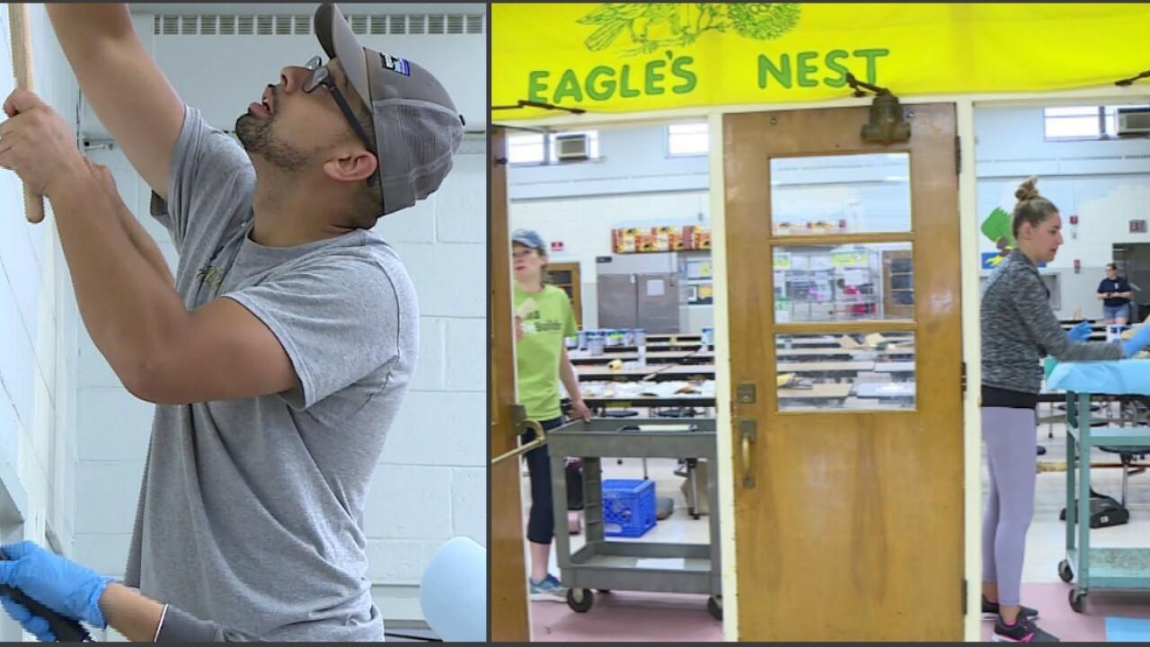 Volunteers paint and clean 'underserved' Richmond elementaryschool