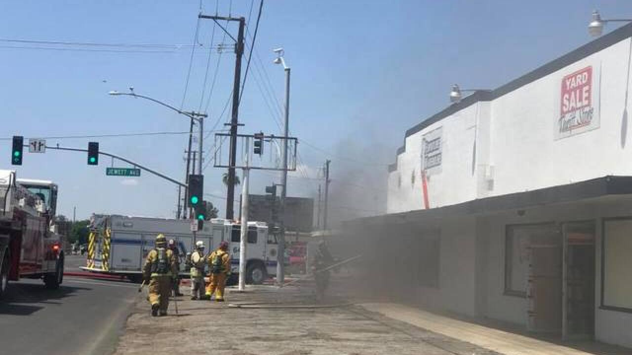 Bakersfield City Fire crews battle structure fire in central fire