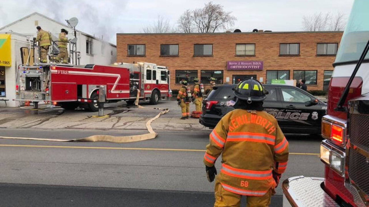 Fire breaks out above Vizzi's in Kenmore