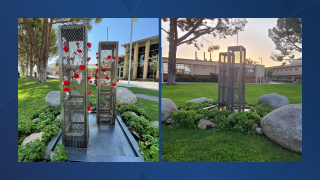 Bakersfield College's Twin Towers monument now on display