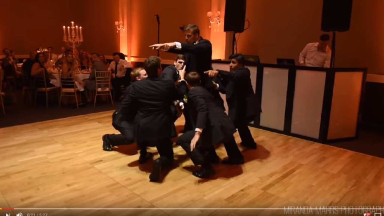 VIDEO: Groom and groomsmen surprise bride with choreographed dance