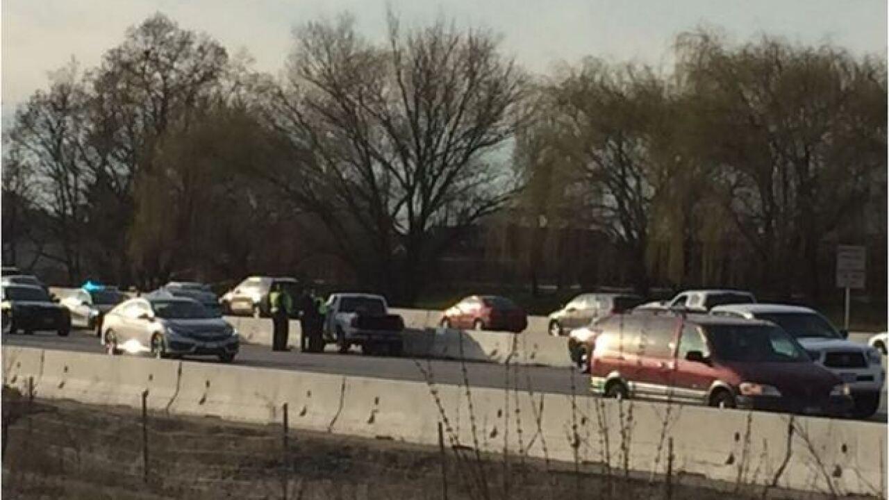 Police pursuit slows traffic on I-84