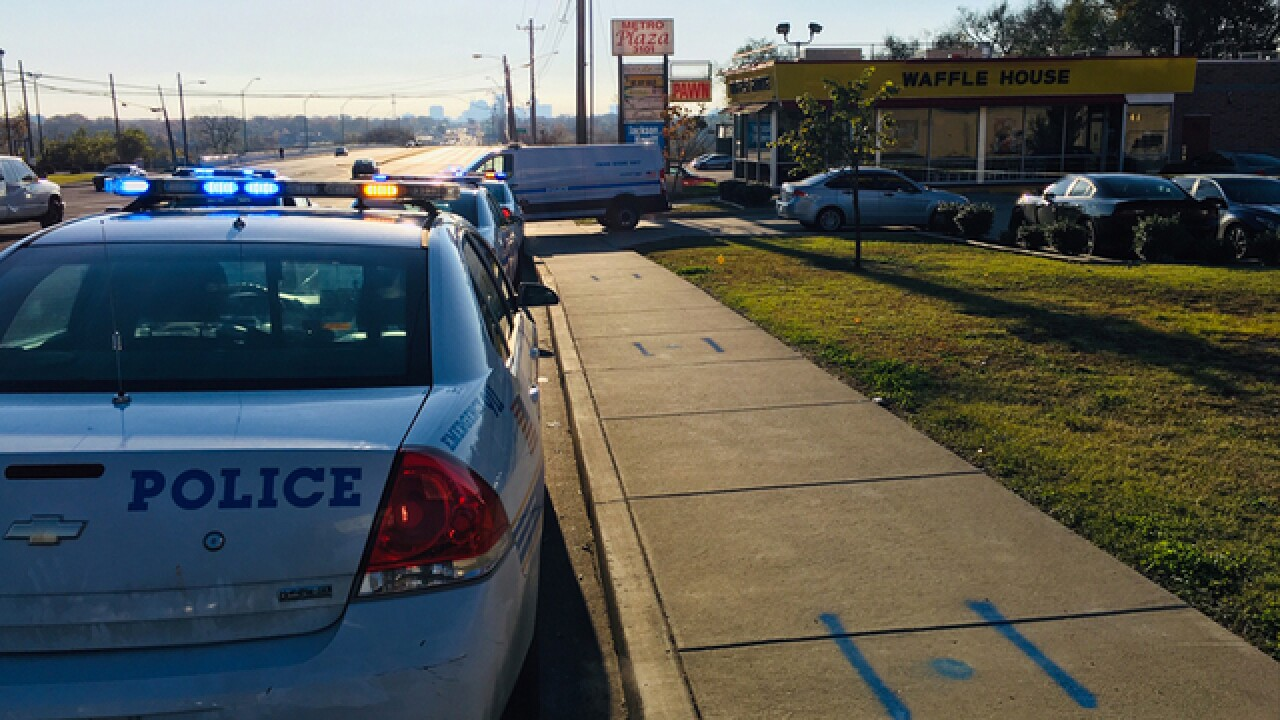 1 shot in parking lot of Bordeaux Waffle House