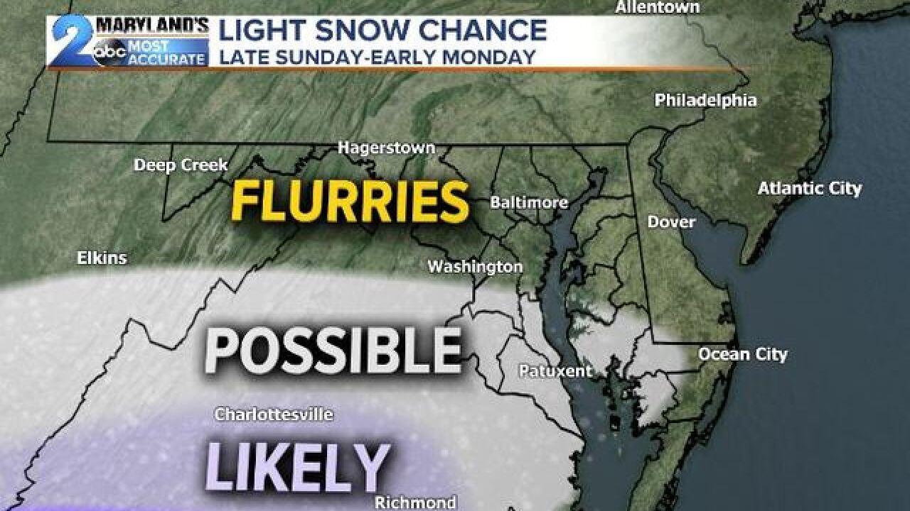 STORM SLIDES SOUTH: Maryland Dodges Big Snow