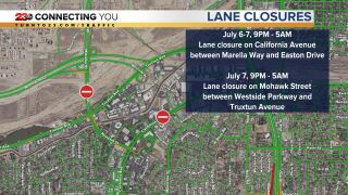 California Ave and Mohawk Street Closures