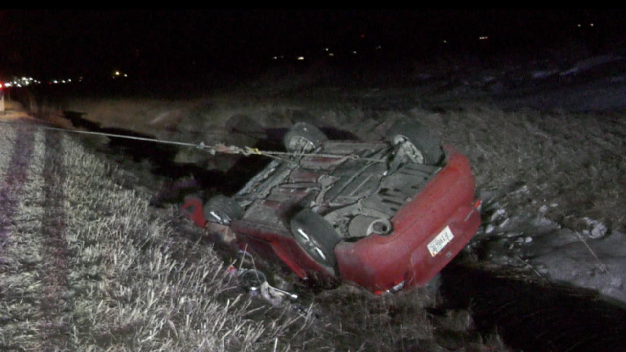 A young woman survived a rollover crash Friday evening with minor injuries just outside of Three Forks.