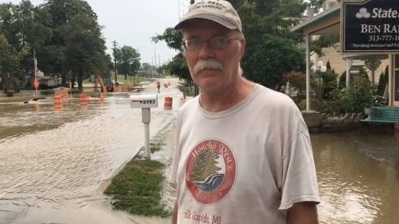 Heavy rain floods streets in Old West Chester