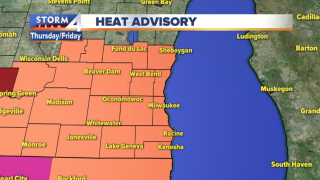 Heat advisory southeast wisconsin july 18 19 20