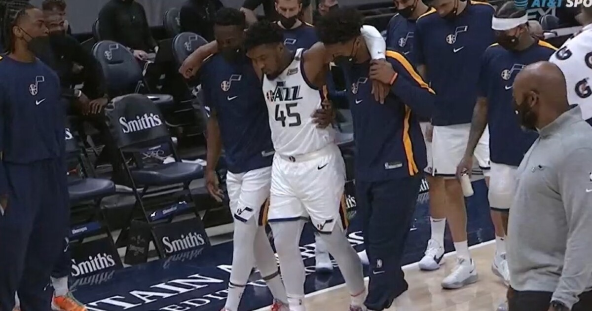 X-rays negative after Donovan Mitchell leaves Jazz game with ankle injury