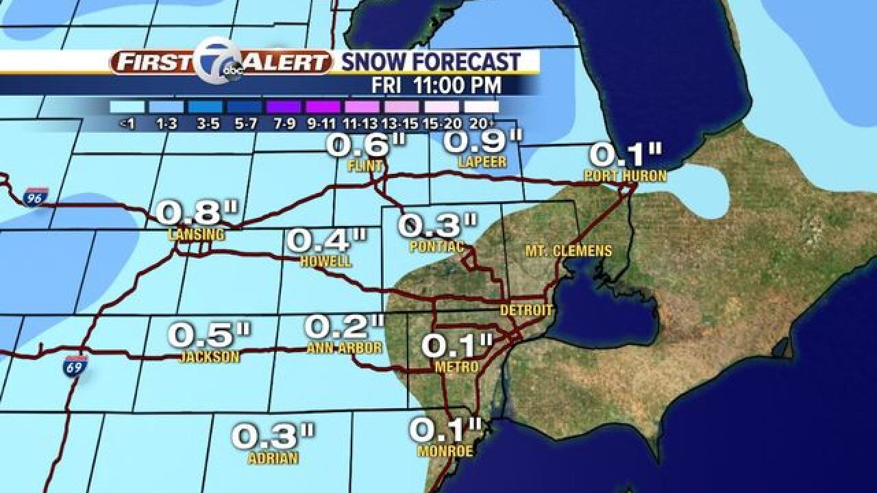 We could see snow in metro Detroit this weekend
