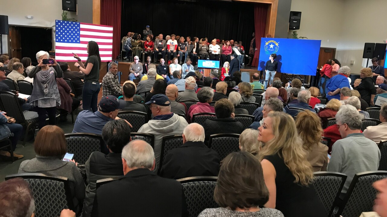 Vice President Joe Biden held an event ahead of early Nevada Caucus voting in Henderson Friday