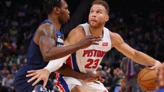 Timberwolves spoil Blake Griffin's return, beat Pistons
