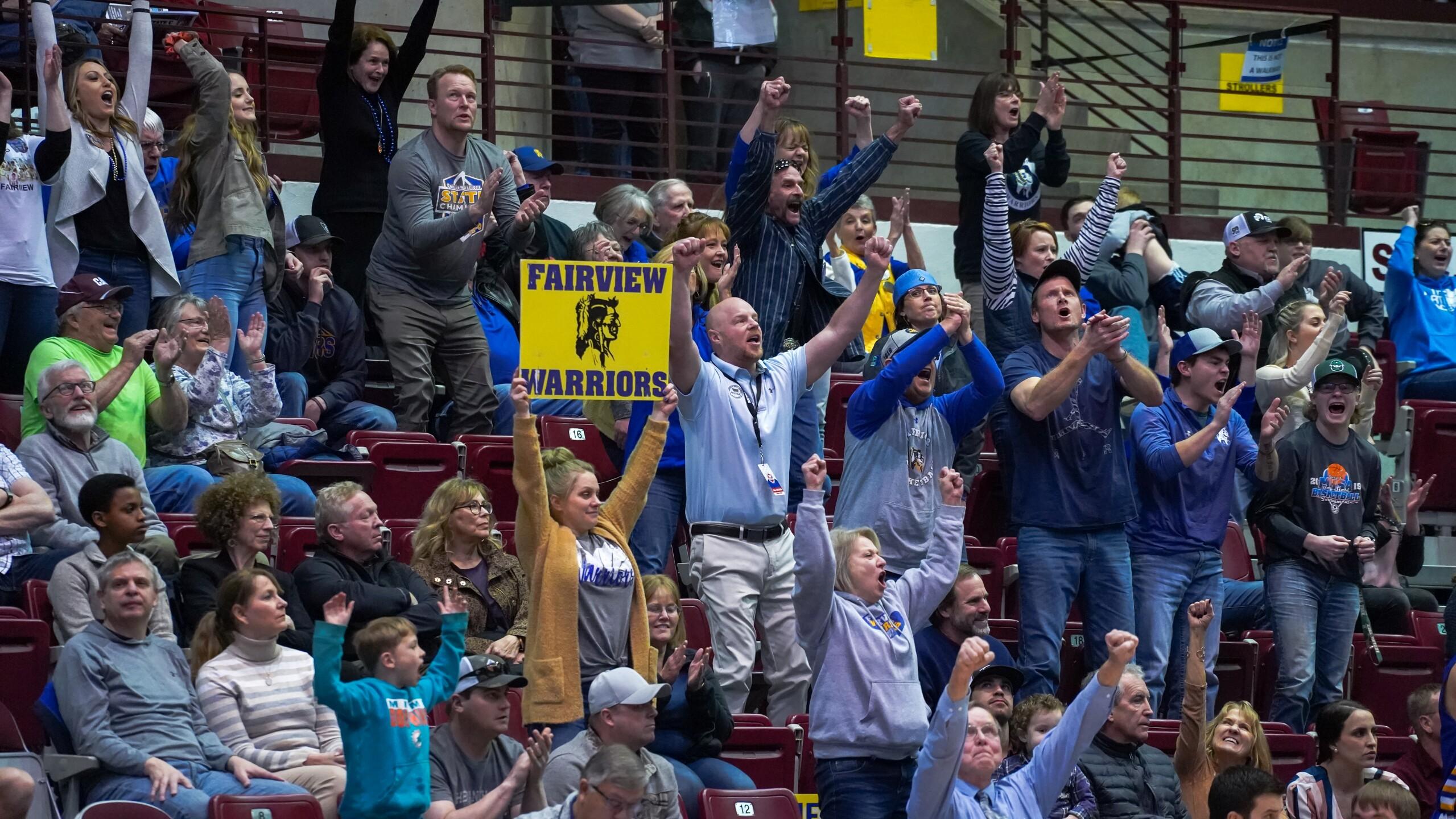 Fairview basketball fans