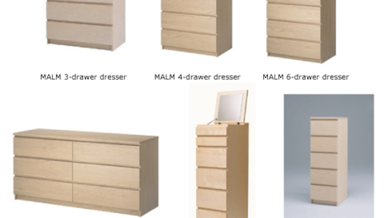 Ikea recalls 29 million dressers after 6 kids killed