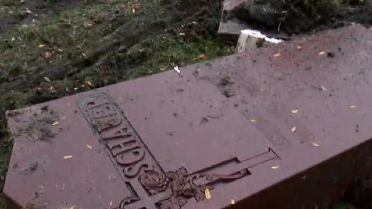 Car crashes into Milwaukee cemetery Sunday night
