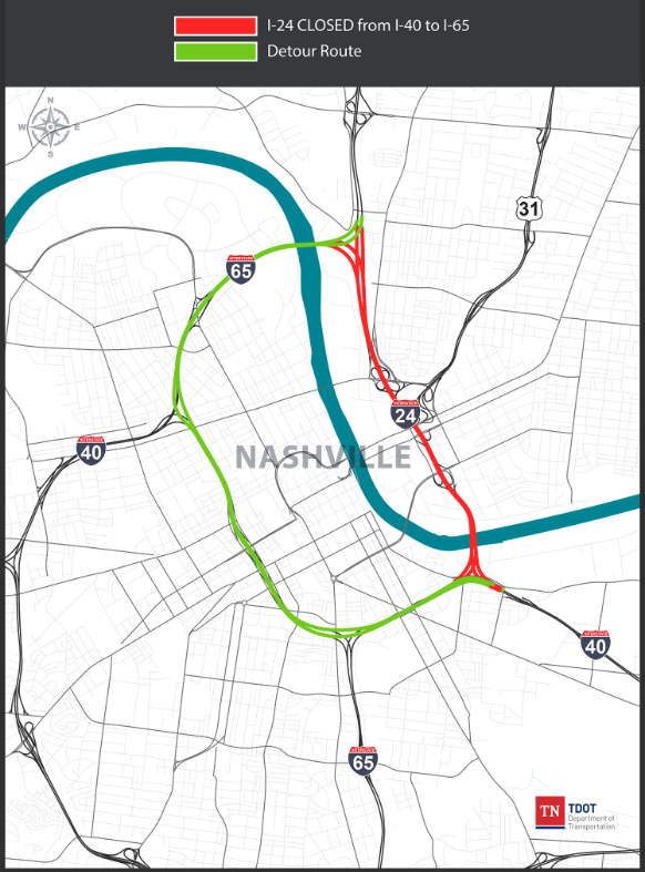 I-24 Downtown Closure Map - July 4th.PNG
