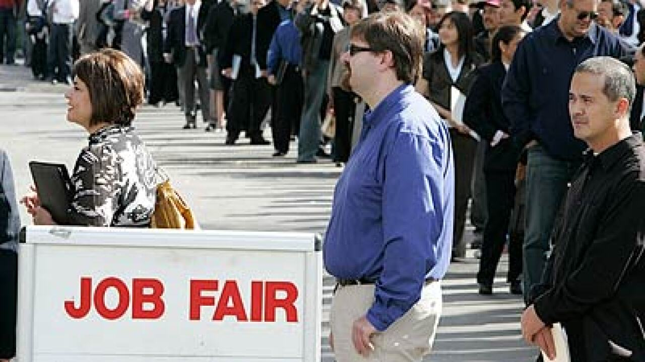 Jobless claims match four-year low