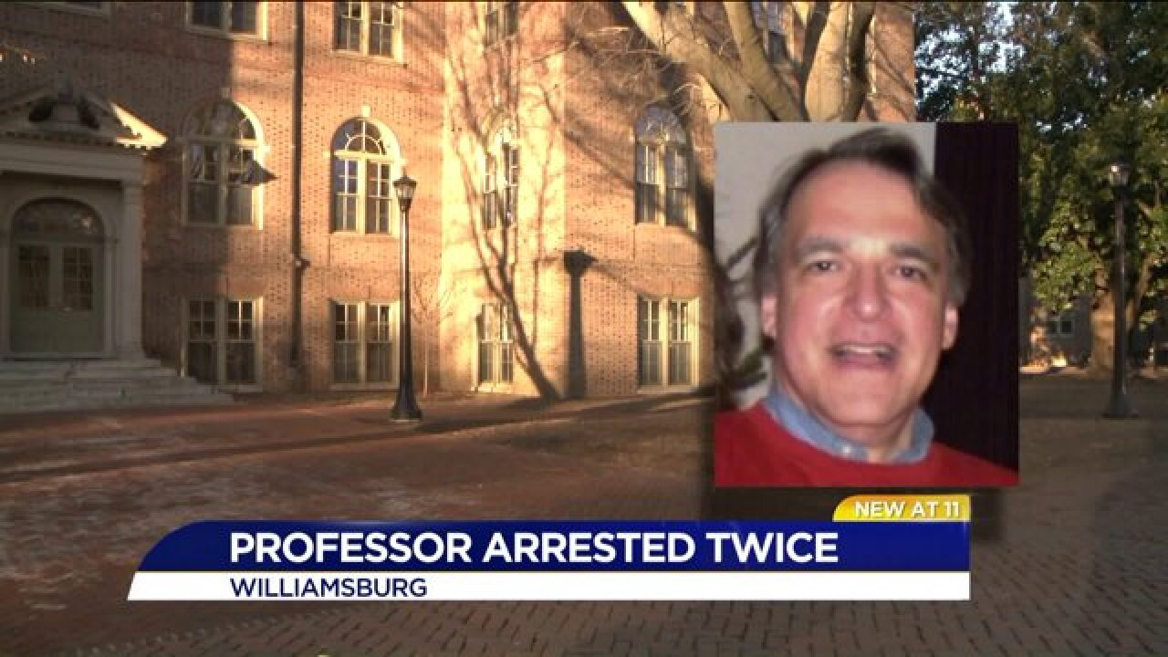 William & Mary professor arrested twice for sending harassing emails