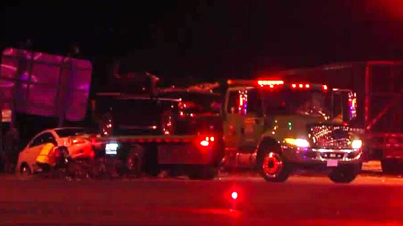 1 killed, 2 others hurt in 3-vehicle crash involving semi in