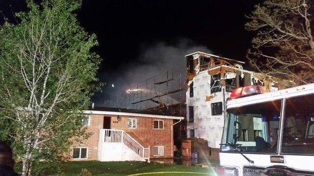 GALLERY: Three-alarm fire destroys 2 buildings under construction in Denver