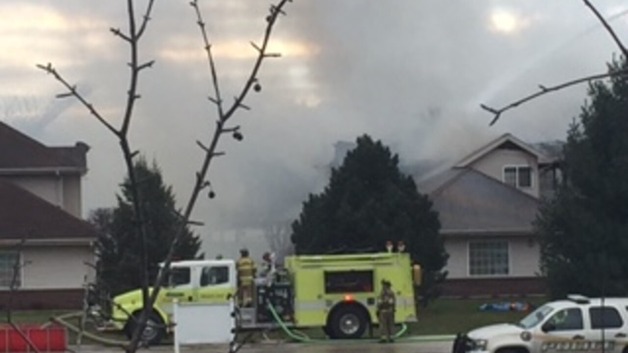 Fire crews battle 3-alarm condo fire in Nashotah