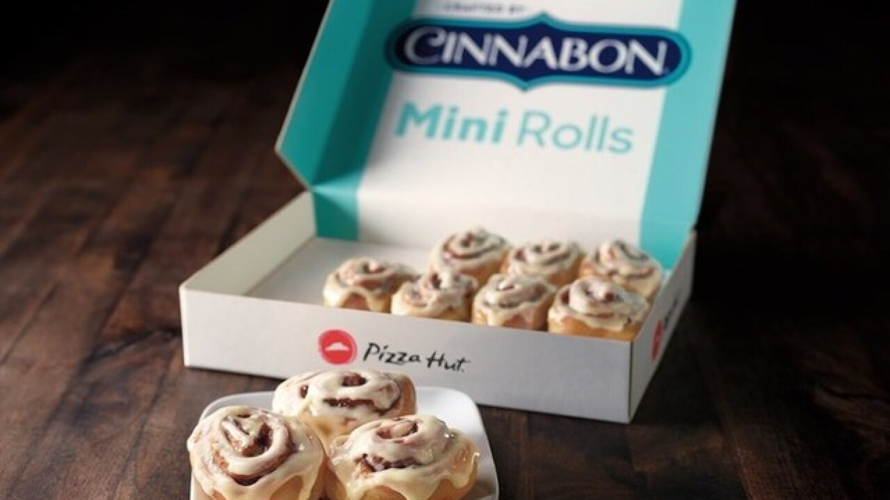 The iconic duo you didn't know you needed: Pizza Hut adds Cinnabon cinnamon rolls to menu