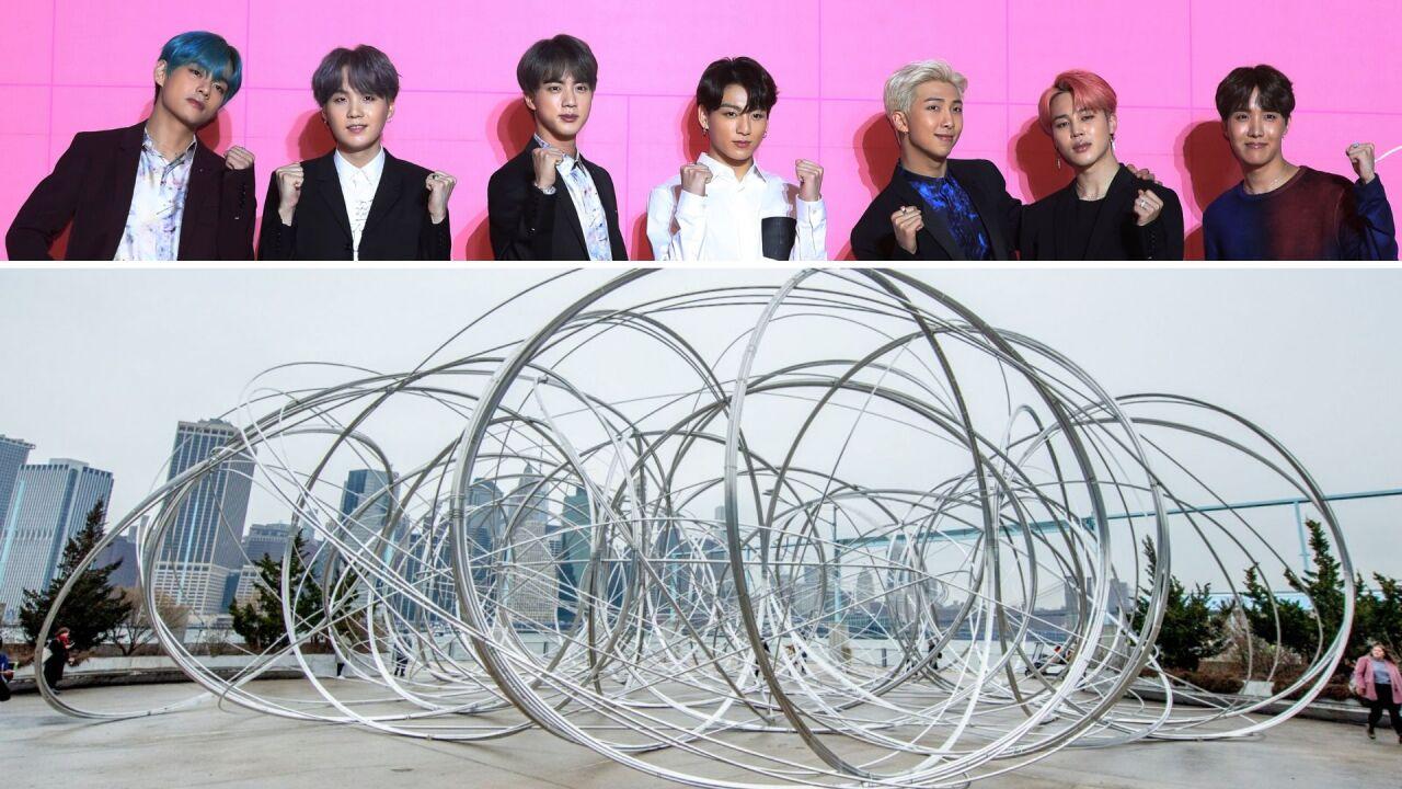 "BTS ""New York Clearing"" art installation in Brooklyn"