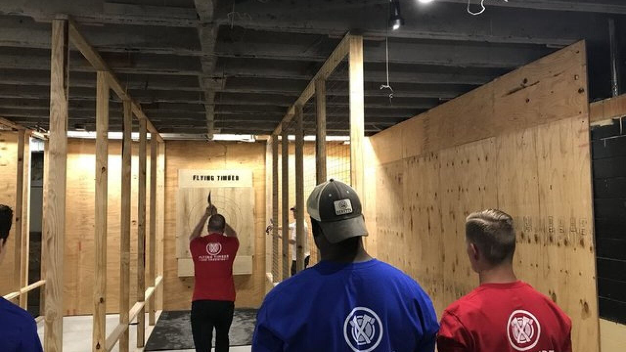 Axe throwing comes to Omaha