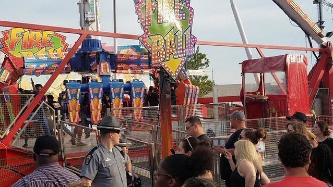 'Fireball' ride malfunctions at fair in Ohio