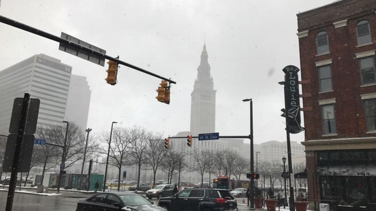 Lake effect snow blankets parts of Cleveland and Northeast Ohio on March 3