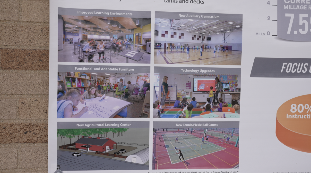 Crews will start to work on the phase one projects at Charlotte Public Schools.