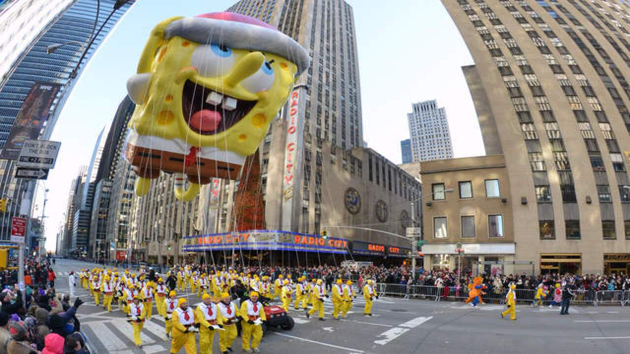 Balloons, Broadway stars and security at Macy's parade