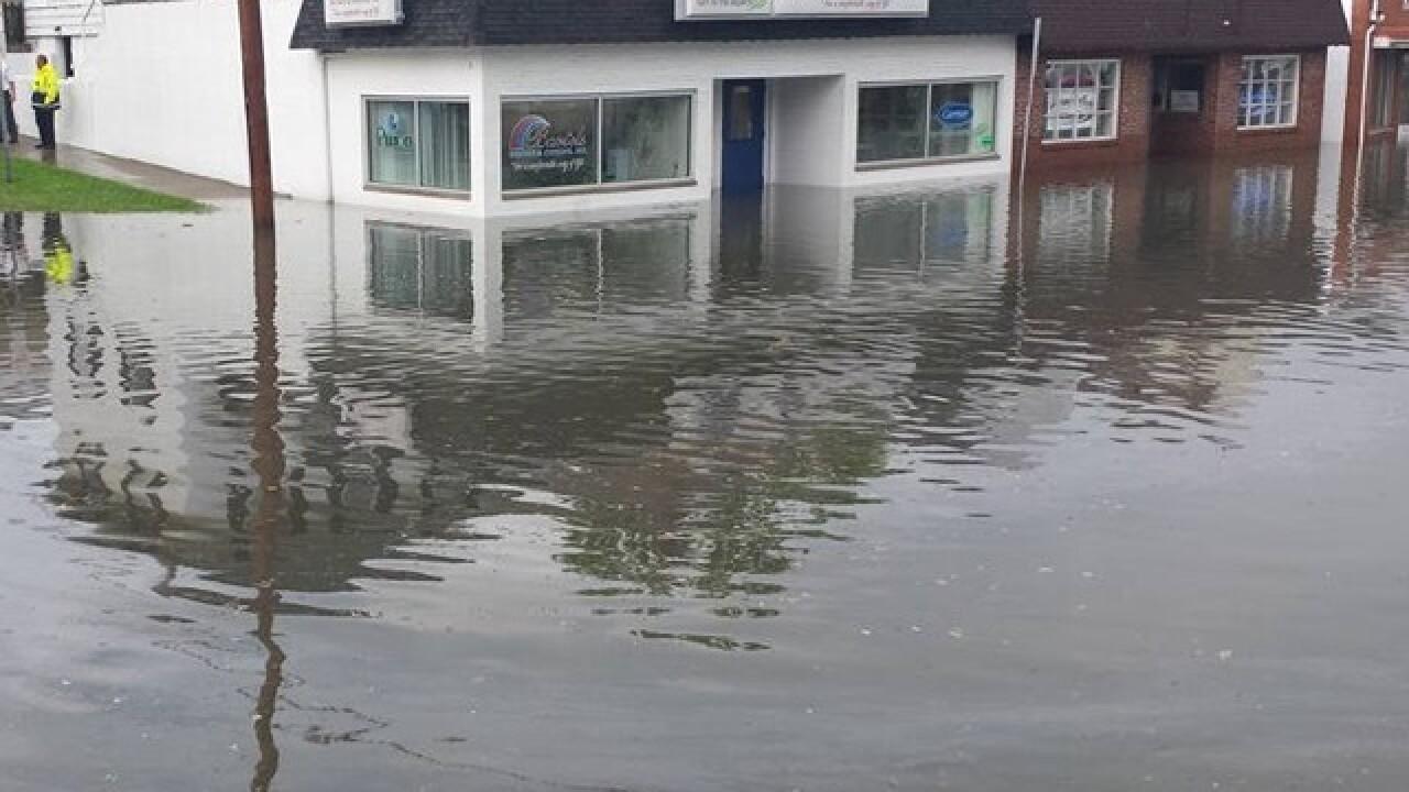 Heavy rain soaks some Hamilton businesses