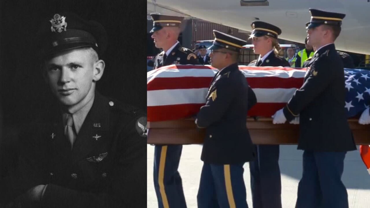 Remains of missing WWII pilot returned to his family in Utah