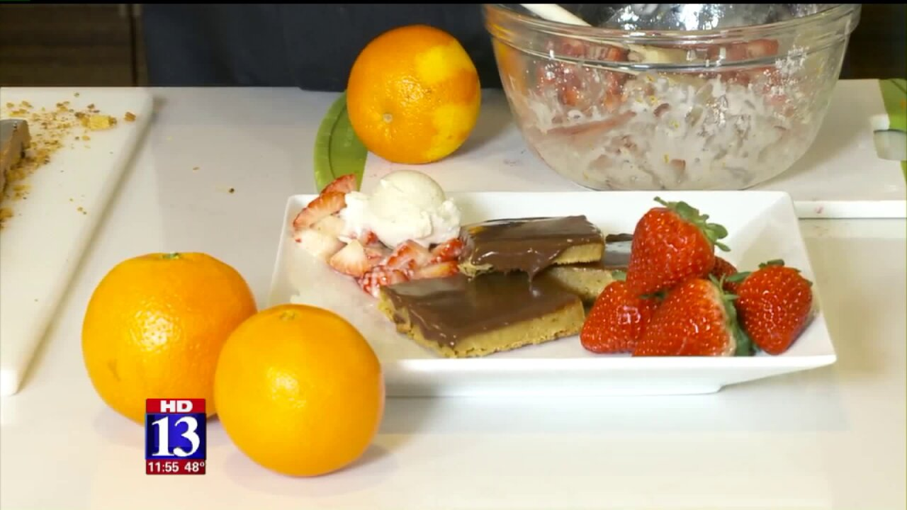 Chocolate Covered StrawberryBlondie