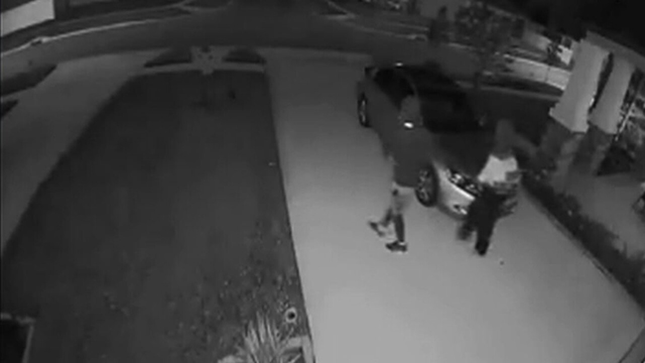Security cameras catch car burglars in action