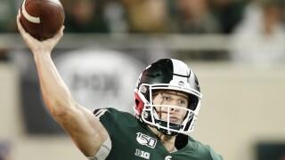 Brian Lewerke throws three TD passes, No. 19 Michigan State routs Western Michigan