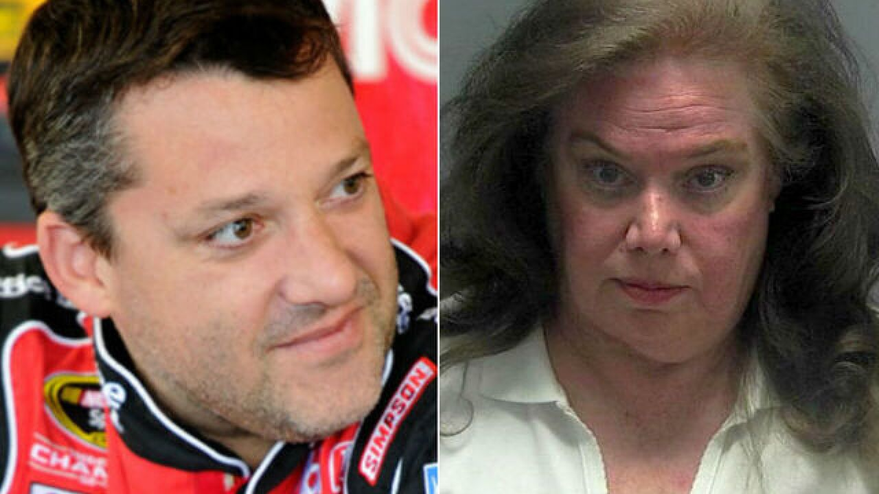 Florida woman allegedly stalked racer Tony Stewart, charged with 'terroristic mischief'
